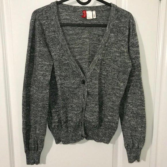H&M Sweaters - Grey Knit H&M Cardigan